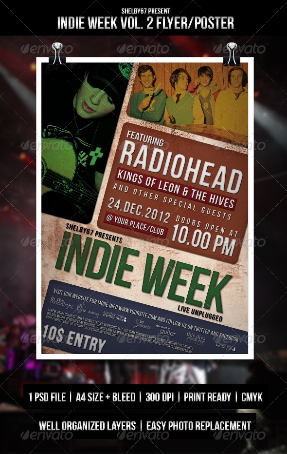 Indie Week Vol. 2 Flyer / Poster - Events Flyers