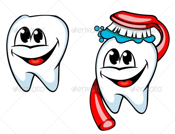 Clean Tooth with Toothbrush and Toothpaste - Health/Medicine Conceptual