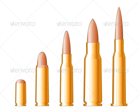 Set of Bullets - Man-made Objects Objects