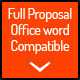 Full Proposal Template + Office Word Version - GraphicRiver Item for Sale
