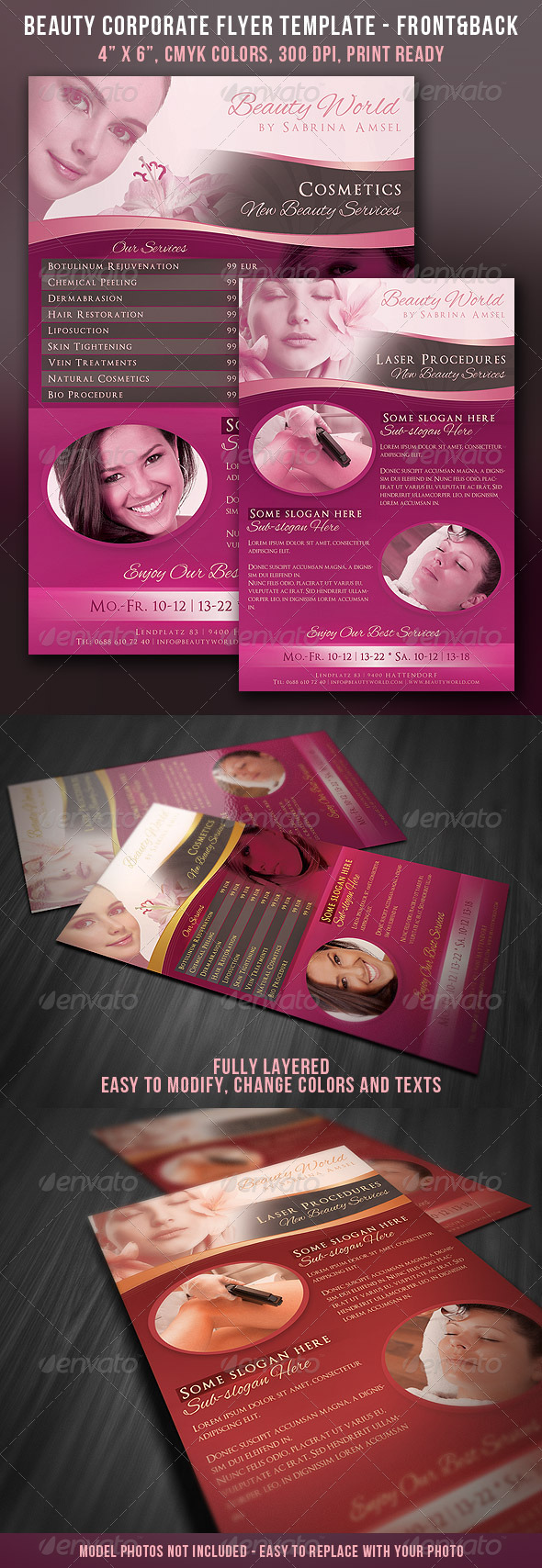 Beauty Corporate Flyer - Front & Back - Corporate Flyers