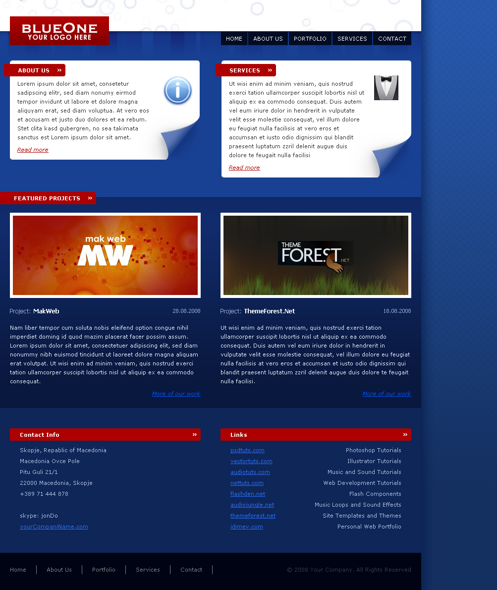 Free Download BlueOne Nulled Latest Version