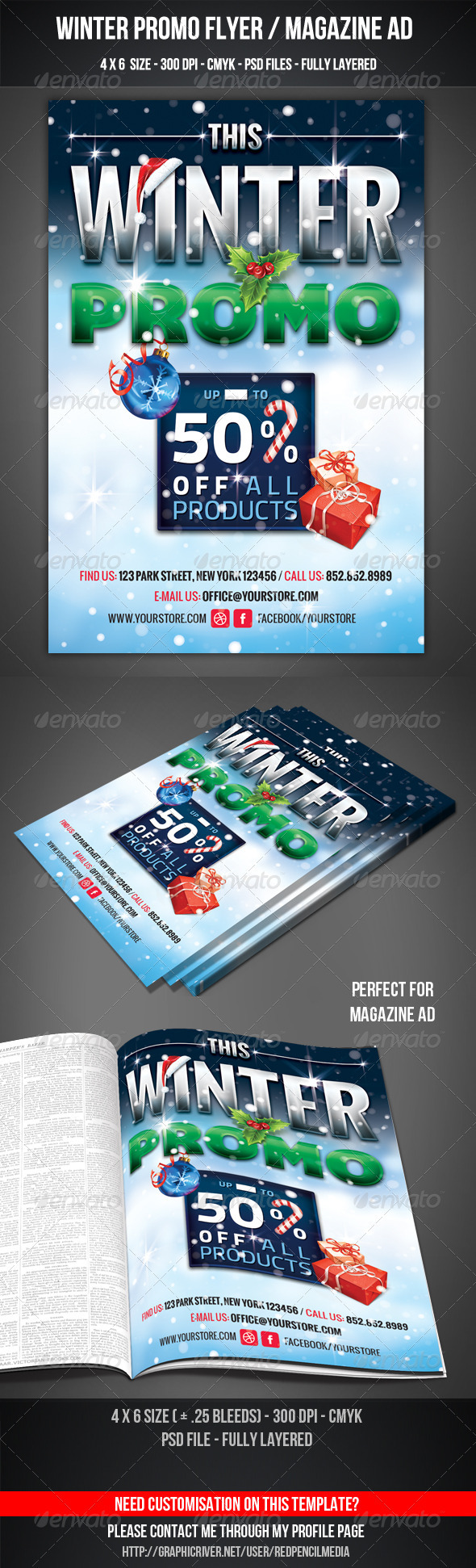 Winter Promo Flyer / Magazine AD - Commerce Flyers