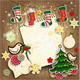 Wooden Board with Christmas Ornaments and Paper - GraphicRiver Item for Sale