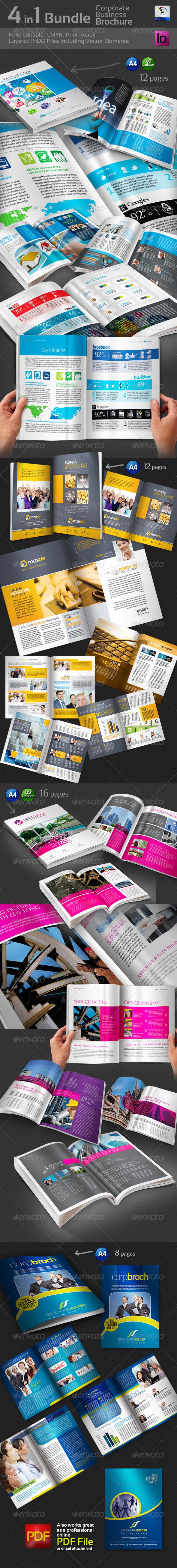 4 in 1 Bundle Bi-Fold Brochure - Corporate Brochures