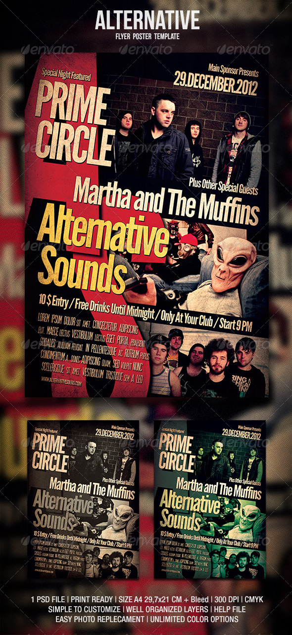 Alternative Flyer / Poster 2 - Events Flyers
