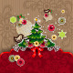 Christmas Tree with Birds and Balls of Paper - GraphicRiver Item for Sale