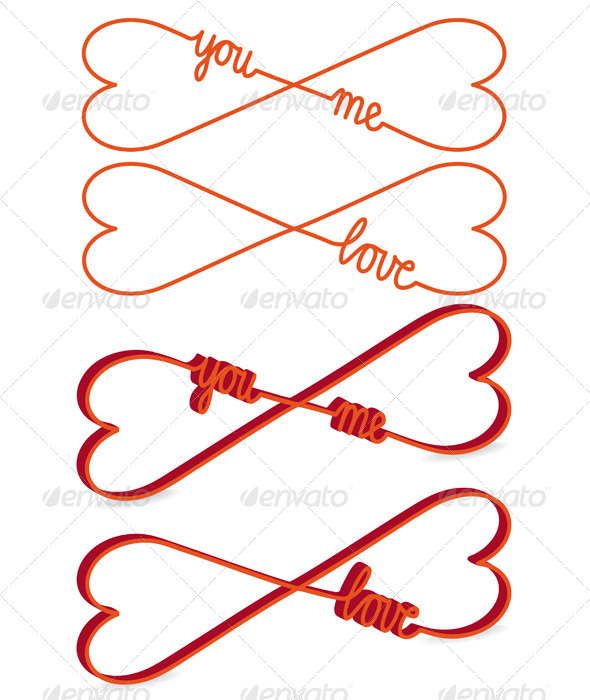 Heart Shaped Infinity Sign, Vector - Valentines Seasons/Holidays
