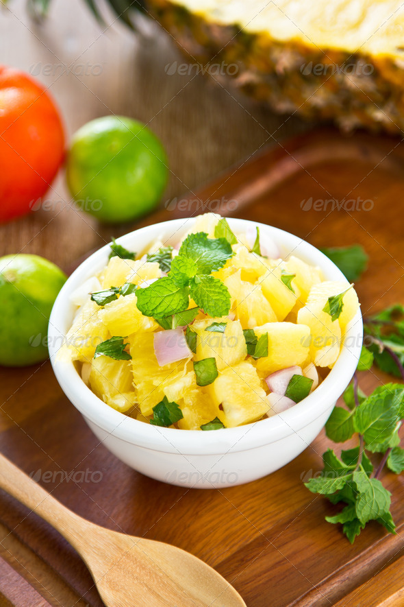 Pineapple salsa  - Stock Photo - Images