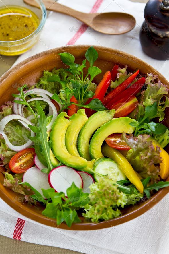 Avocado salad  - Stock Photo - Images