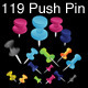 84 Push Pins