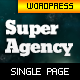 Super Agency - Responsive WordPress Single Page - ThemeForest Item for Sale