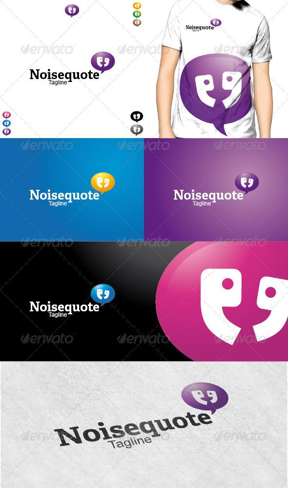 Noisequotes Logo - Symbols Logo Templates