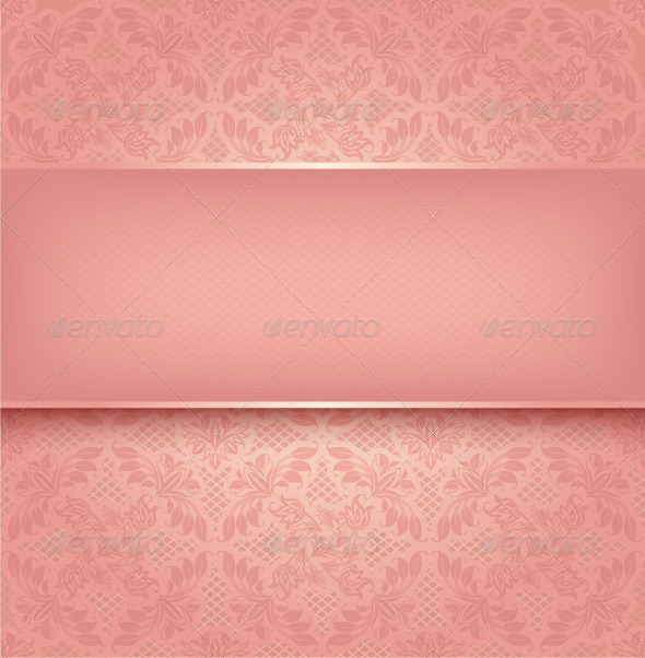 Pink Floral Background - Backgrounds Decorative