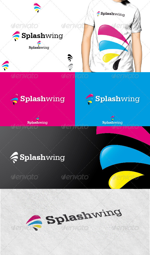 Splashwing Logo - Symbols Logo Templates