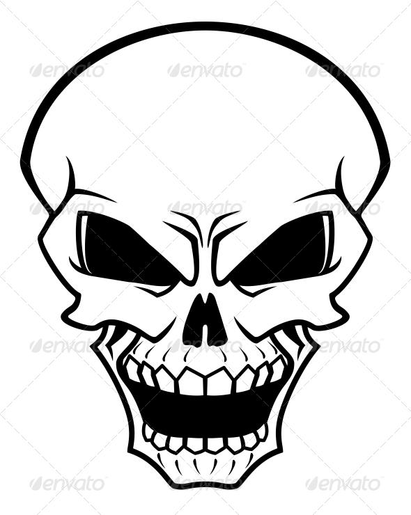 Danger Skull - Tattoos Vectors