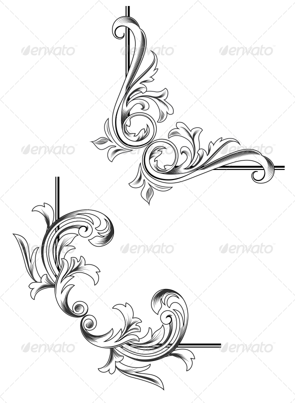 Swirl Elements - Decorative Symbols Decorative