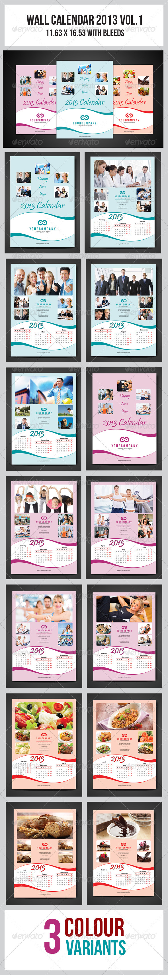 Wall Calendar 2013 Vol.1 - Calendars Stationery