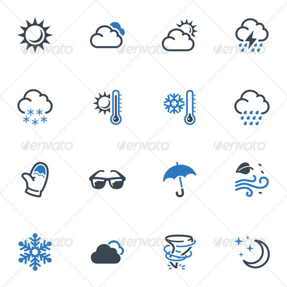 Weather Icons - Blue Series - Seasonal Icons