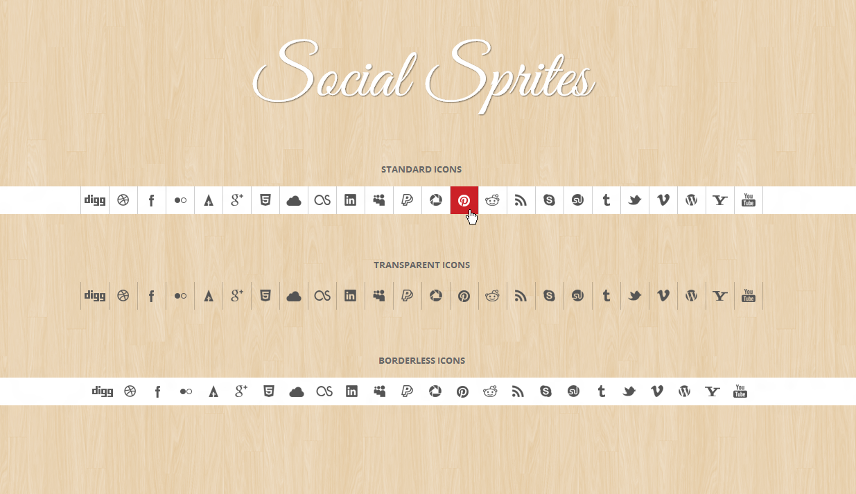 Social Sprites Icons Widget