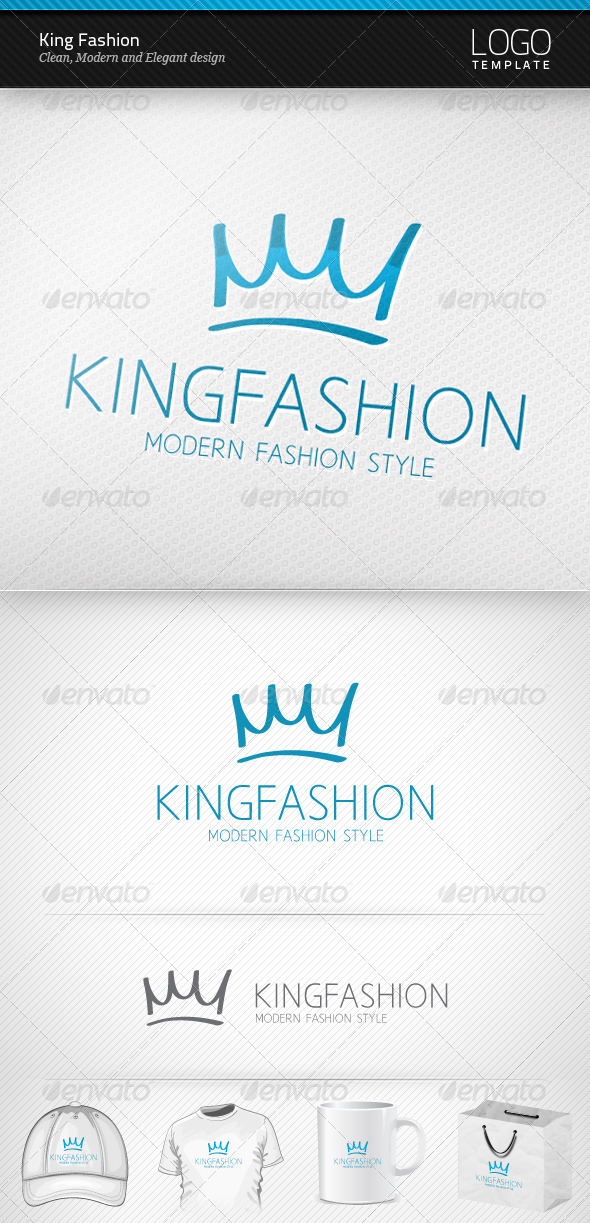 King Fashion Logo - Symbols Logo Templates