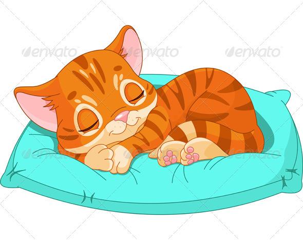 Sleeping Kitten - Animals Characters