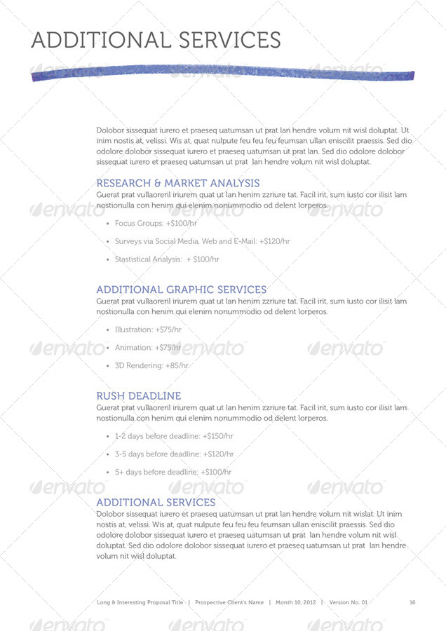 Magic Marker Business Proposal Template By Munkis  Graphicriver