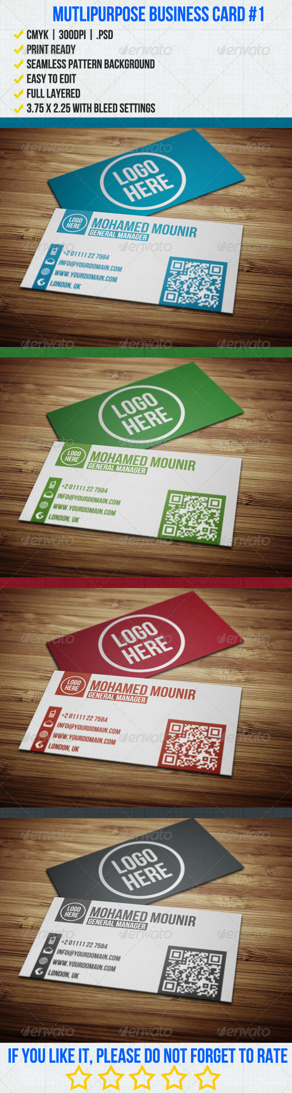 Multipurpose Business Card 1 - Corporate Business Cards