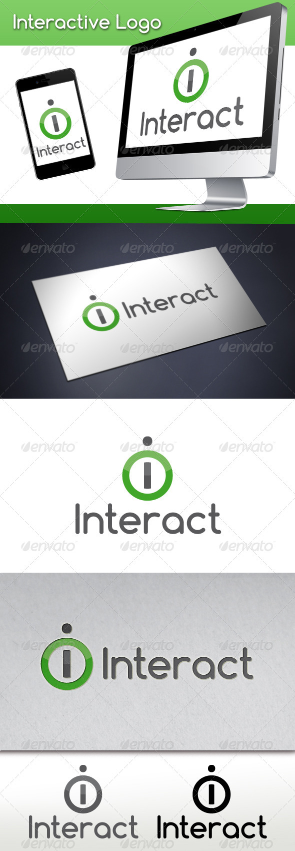 Interactive Letter I Logo Template - Letters Logo Templates