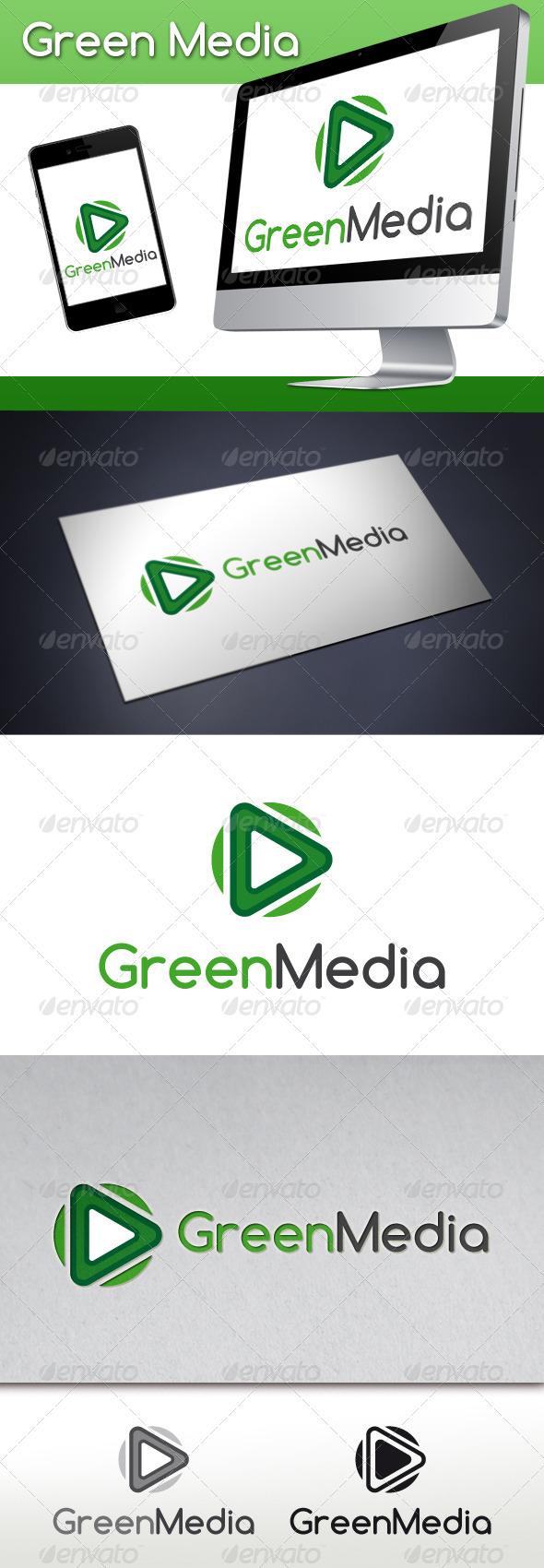 Green Media Logo Template - Objects Logo Templates