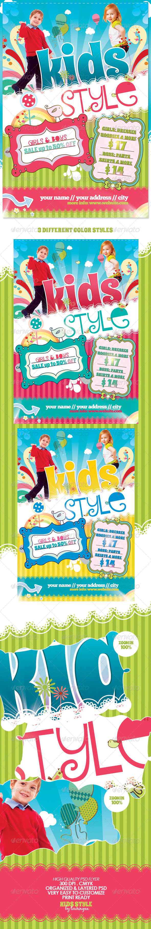 Kids Style Flyer Template - Commerce Flyers