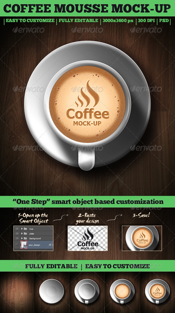 Coffee Mousse Mock-Up - Food and Drink Packaging