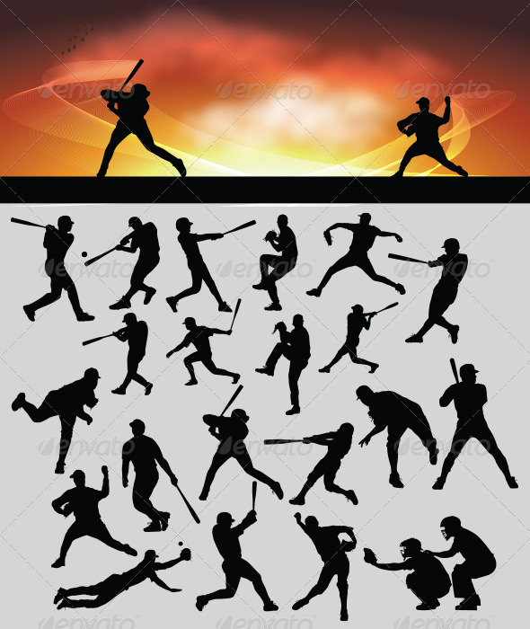 Baseball Silhouette - Sports/Activity Conceptual