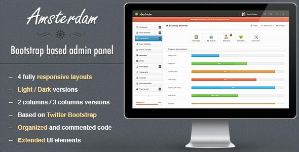 Amsterdam - Premium Responsive Admin Template - Admin Templates Site Templates
