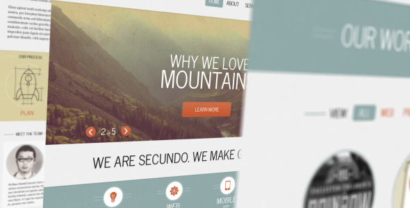 Secundo Site Template - Portfolio Creative