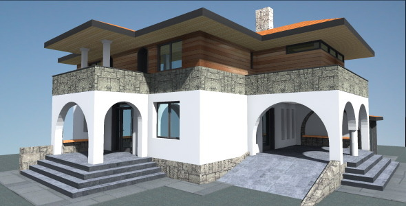 Spanish House 3d Model 3docean Item For Sale