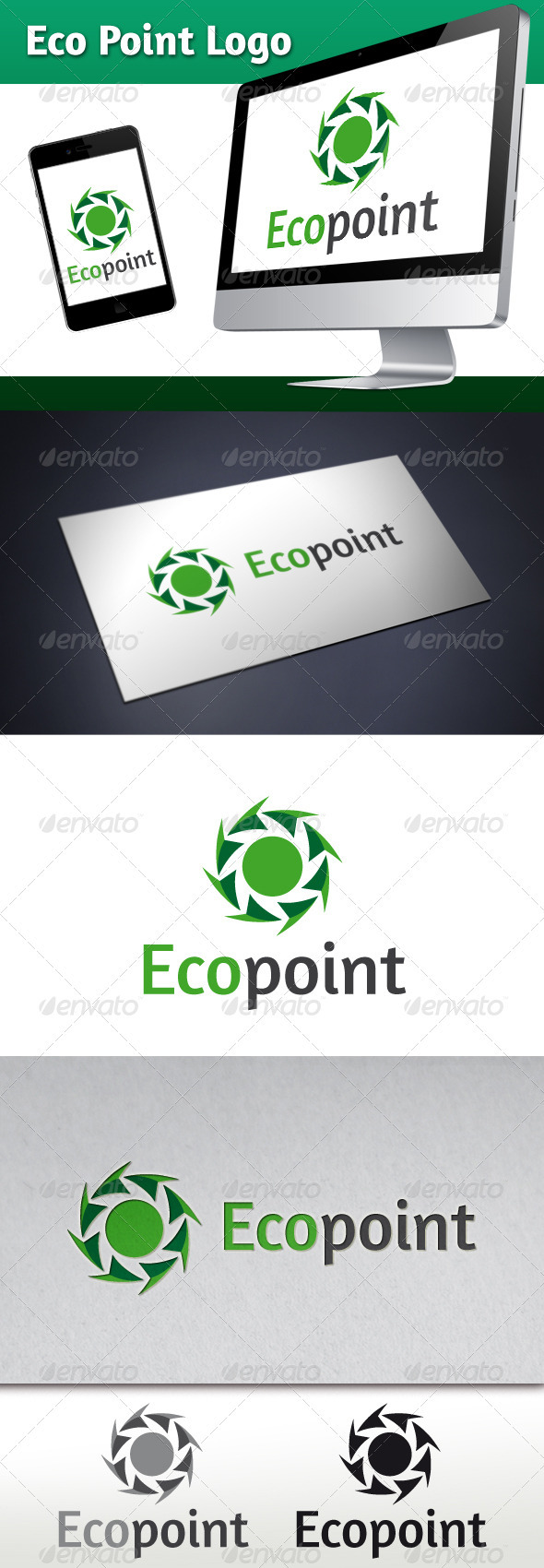 Eco Point Logo Template - Nature Logo Templates