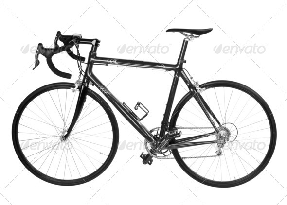 bicycle isolated - Stock Photo - Images