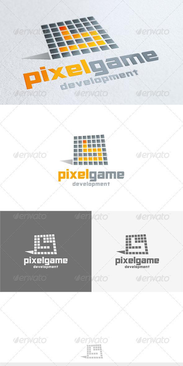 Pixel Game Logo - Symbols Logo Templates