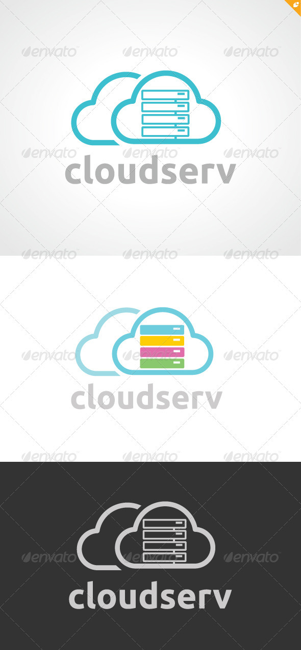 Cloud Serv Logo - Nature Logo Templates