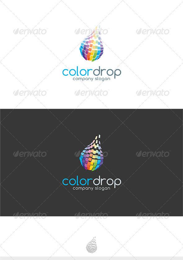Color Drop Logo - Symbols Logo Templates