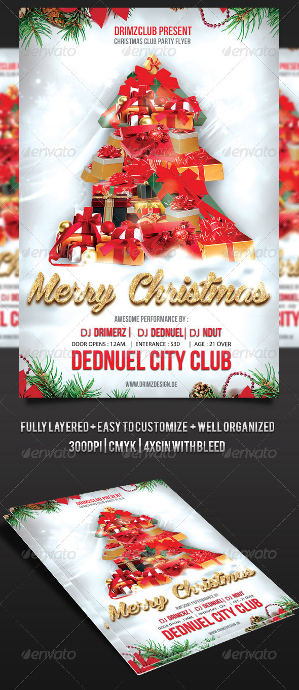 Christmas Tree Party Flyer - Holidays Events