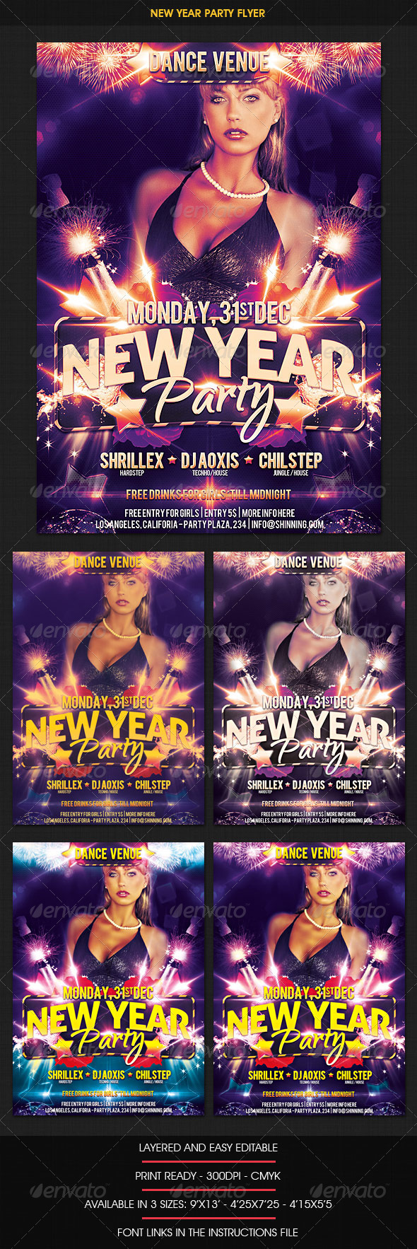 New Year Dance Party Flyer - Clubs & Parties Events