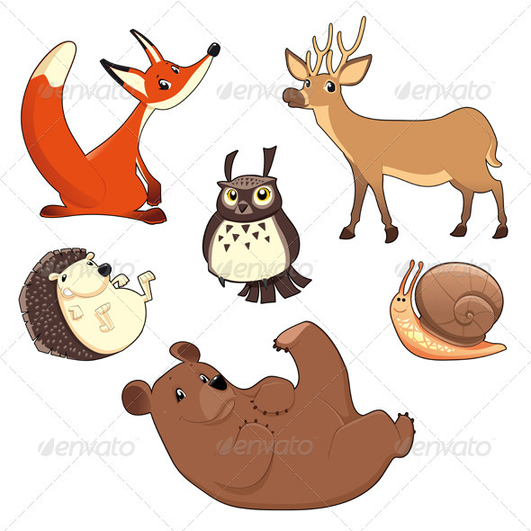 Wood Animals - Animals Characters