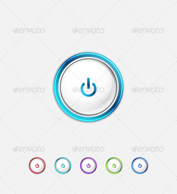 Minimalistic Power Buttons - Web Elements Vectors
