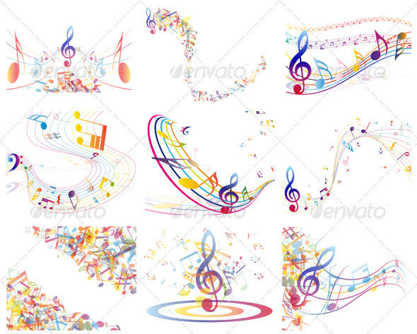 Color Notes Background 01 Vector Free Download