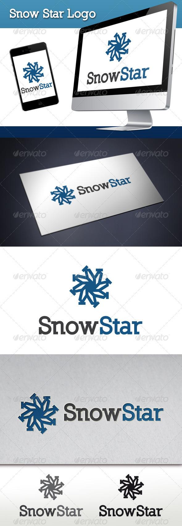 Snow Star Logo Template - Symbols Logo Templates