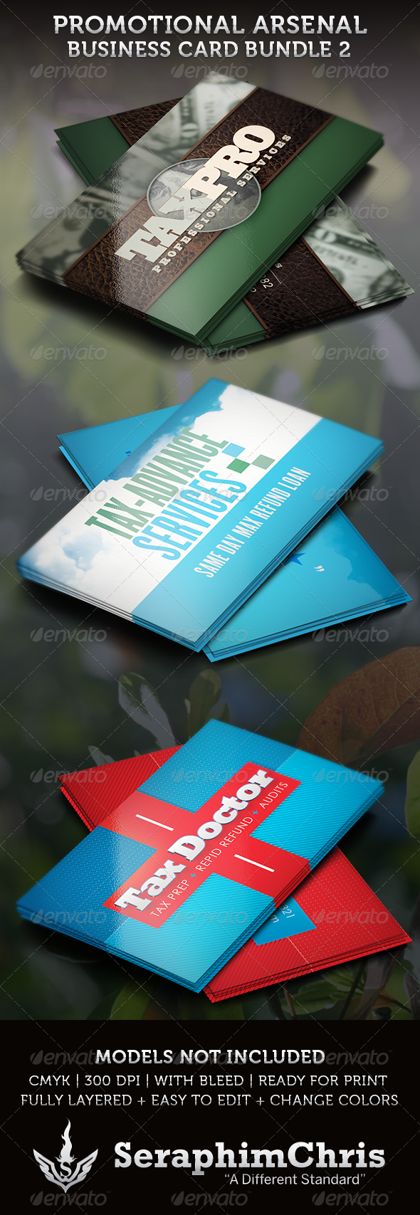 Promotional Arsenal Business Card Bundle 2 - Corporate Business Cards