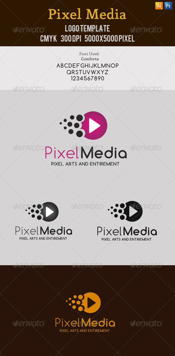 Pixel Media Entertainment Logo - Symbols Logo Templates