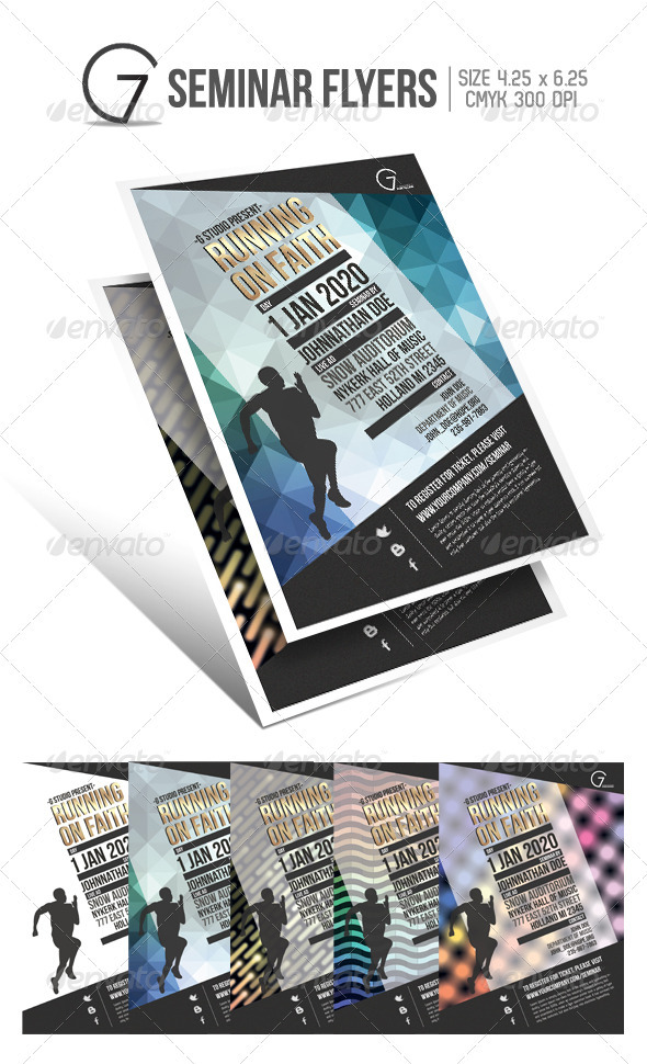 Gstudio Seminar Flyers Template - Church Flyers